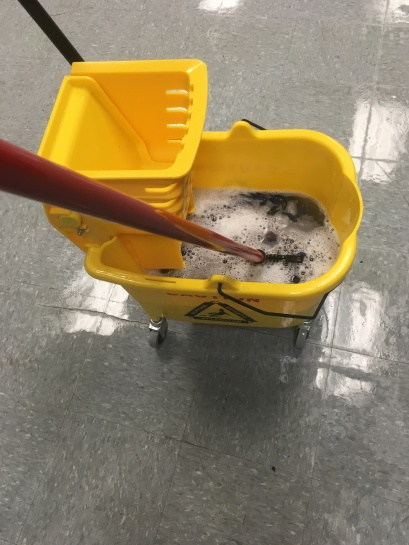 Mopping at work